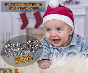 FOTOGRAFÍAS NAVIDEÑAS EN FOTO ESTUDIO DIGITAL, MÁLAGA POR 35€